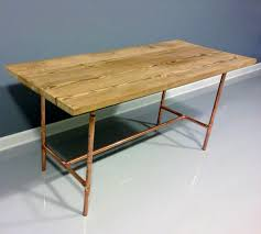 100 Diy Pipe Desk Plans Pipe Table Ideas And Inspiration by Reclaimed Wood Table Copper Industrial Pipe Legs Wood Copper