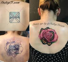 amazing cover up of iron cross with the most beautiful with