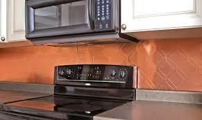 copper tile backsplash for kitchen interior copper backsplash stunning black deco kitchen with a