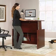 Sit And Stand Computer Desk by Sauder Select Sit Stand Desk 422357 Sauder