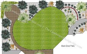 Landscape Backyard Design Ideas Big Estate Backyard Plan