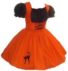 Girls Witch Halloween Costume Orange Witch Halloween Costume Cute Witch Orange Dress Black