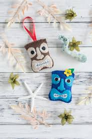 tiki felt ornament pattern diy felt tiki bookmark ornament and