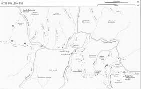 Georgia River Map Toccoa River Deep Hole To Sandy Bottoms N2backpacking Com