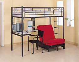 Amazoncom Coaster Fine Furniture  Metal Bunk Bed With Futon - Futon bunk bed frame