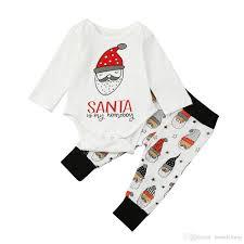 2017 children u0027s baby long sleeved letter santa claus prints suit