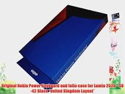 nokia su 42 original nokia power keyboard and folio case for lumia 2520 su 42