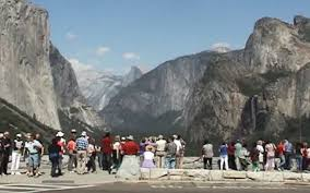 more visitors and cars in yosemite last year than during any