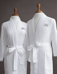 his and hers wedding gifts mr mrs s waffle weave bathrobe set 100