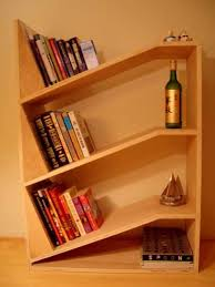 Building Wooden Bookshelves by Angled Bookshelf Us House And Home Real Estate Ideas