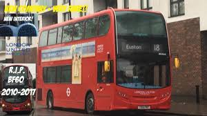 London Bus Interior 1st Day Very Rare New Interior 18 Bus Route Ade12 Yx12fnt