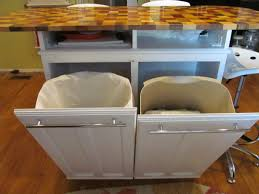 kitchen island with garbage bin kitchen island trash bins reuse repurpose upcycle