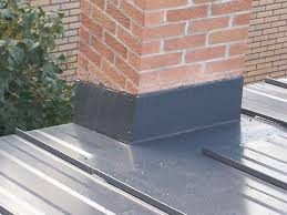 installed metal roof chimney flashing