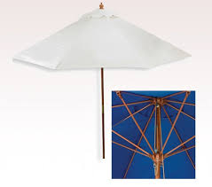 Vinyl Patio Umbrella Personalized White 7 Ft X 6 Panel Configuration Vinyl Patio