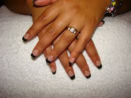 opted for simple design clear nails shimmer tips gel simple nail