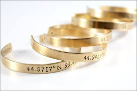 personalized gold bracelets custom coordinates bracelet latitude longitude location gps