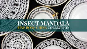 insect mandala u0027 fine bone china collection made in the uk by the