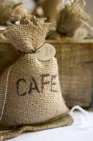 small burlap bags diy coffee bag favors burlap sacks favors and coffee
