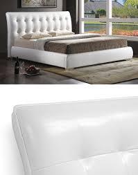 White Headboard King Modern Upholstered Beds