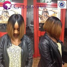 center part bob hairstyle golden blonde human hair glueless full lace bob wigs haircut short