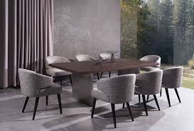 lexington modern brown oak dining table