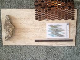 copper accents oval tile is master bath shower floor overlook