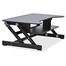 Office Desk Risers Lorell Sit To Stand Monitor Riser Black Computers