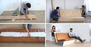 sofa bed desk make this diy modern couch that also doubles as a desk contemporist