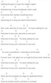 Blind Chords Taylor Swift Welcome To New York Chords U2022ukelele U2022 Pinterest