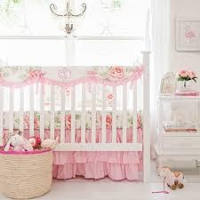 Roses Crib Bedding Pink Crib Rail Cover Pink Crib Bedding Floral Baby
