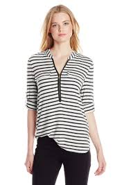 calvin klein blouses calvin klein calvin klein s modern essential striped zip