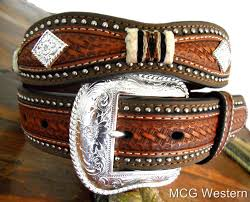 leather belts for men western country style cowboy belt h