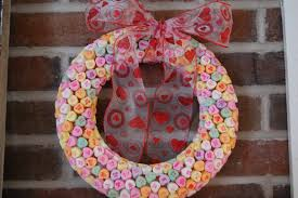 valentines day wreath s day candy wreath a bird and a bean