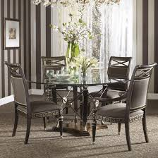 Round Dining Table With Glass Top Formal Grecian Style Round Dining Table With Glass Top By Fine
