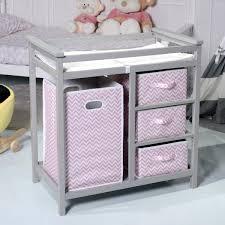 baby changing table basket costway rakuten costway gray pink infant baby changing table w 3