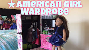amazing american doll wardrobe youtube
