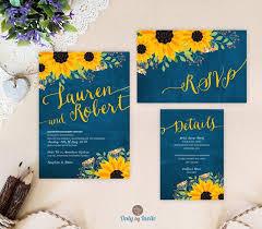 Wedding Invitation Packages Sunflower Wedding Invitation Packages Invites Rsvp Postcard
