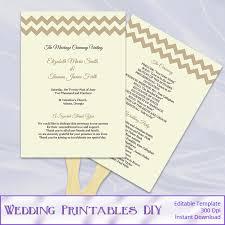 rustic wedding fan programs rustic wedding program fans template diy printable retro beige