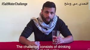 Challenge With Water Palestinians Highlight Prisoners Strike With Salt Water