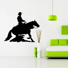compare prices on sticker cowboy wall online shopping buy low zuczug black pvc wall stickers cowboy mustang 3d removable wall decals home decor stickers 04