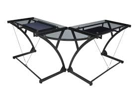 Black Glass Top Computer Desk Glass Corner Computer Desk Bethebridge Co