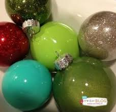 easy diy glitter inside clear plastic ornaments