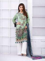 light green dress with sleeves exclusive light green and white lawn dress sacl13 exclusive