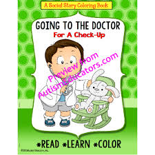 story coloring book series doctor boy version