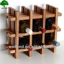 9 bottle wood wooden freestanding wine rack foldable lattice stand