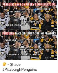 Pittsburgh Penguins Memes - penguins fans on fleury before playoffs fleury sucks a murray is