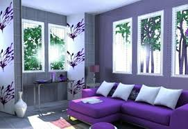 light purple accent wall light purple accent wall in living room with purple sectional