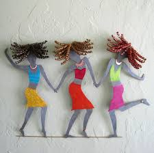 Homemade Wall Decor Hand Crafted Handmade Upcycled Metal Girlfriends Wall Art Piece By