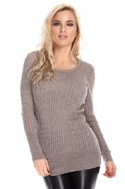 fitted sweater mocha fitted cable knit scoopneck pullover sweater sweaters for