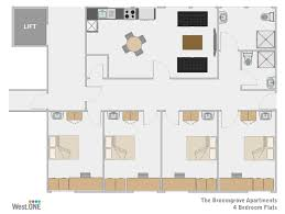 4 Bedroom Apartment by Student Accommodation Sheffield 4 Bedroom Apartment At Broomgrove